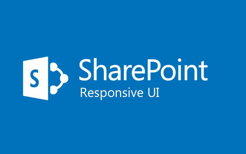 Blog SharePoint Responsive UI