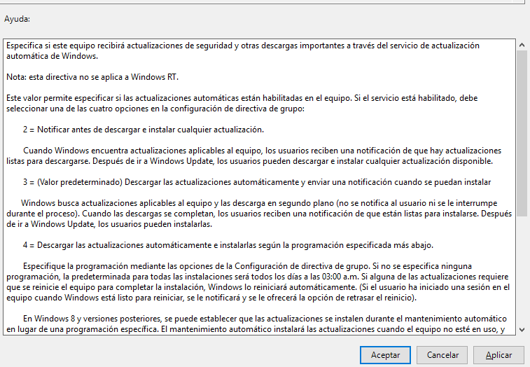 Programar actualizaciones en Windows